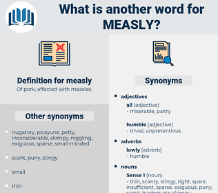 measly, synonym measly, another word for measly, words like measly, thesaurus measly
