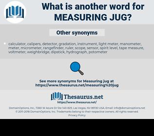 measuring jug, synonym measuring jug, another word for measuring jug, words like measuring jug, thesaurus measuring jug
