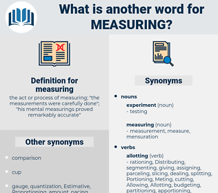 measuring, synonym measuring, another word for measuring, words like measuring, thesaurus measuring