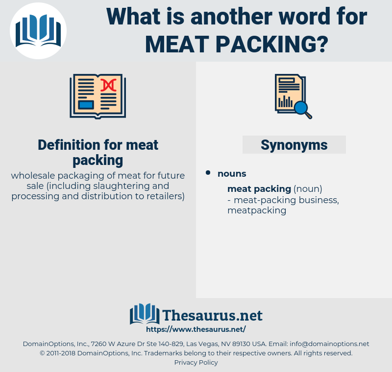 meat packing, synonym meat packing, another word for meat packing, words like meat packing, thesaurus meat packing