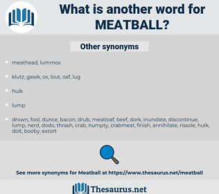 meatball, synonym meatball, another word for meatball, words like meatball, thesaurus meatball