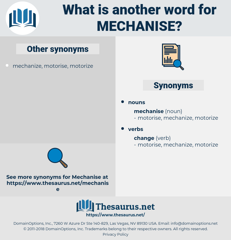 mechanise, synonym mechanise, another word for mechanise, words like mechanise, thesaurus mechanise