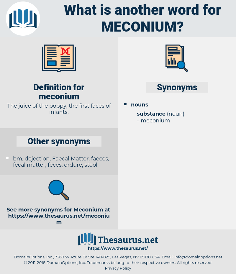 meconium, synonym meconium, another word for meconium, words like meconium, thesaurus meconium