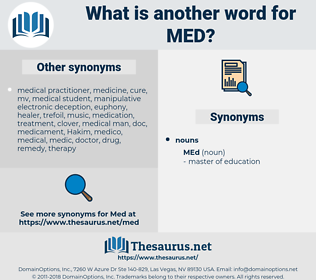 med, synonym med, another word for med, words like med, thesaurus med