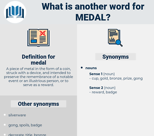 medal, synonym medal, another word for medal, words like medal, thesaurus medal