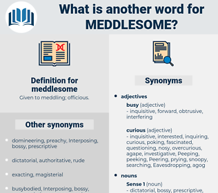meddlesome, synonym meddlesome, another word for meddlesome, words like meddlesome, thesaurus meddlesome