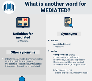 mediated, synonym mediated, another word for mediated, words like mediated, thesaurus mediated