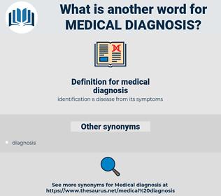 medical diagnosis, synonym medical diagnosis, another word for medical diagnosis, words like medical diagnosis, thesaurus medical diagnosis