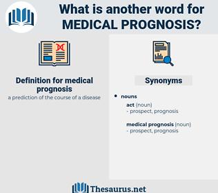medical prognosis, synonym medical prognosis, another word for medical prognosis, words like medical prognosis, thesaurus medical prognosis