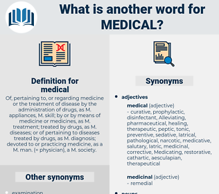 medical, synonym medical, another word for medical, words like medical, thesaurus medical