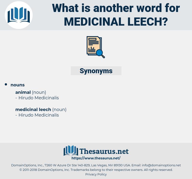 medicinal leech, synonym medicinal leech, another word for medicinal leech, words like medicinal leech, thesaurus medicinal leech