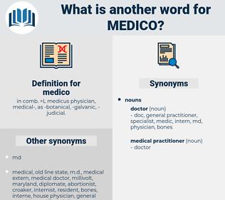medico, synonym medico, another word for medico, words like medico, thesaurus medico