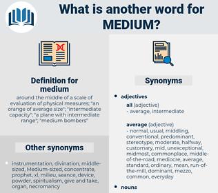 medium, synonym medium, another word for medium, words like medium, thesaurus medium