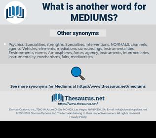 Mediums, synonym Mediums, another word for Mediums, words like Mediums, thesaurus Mediums