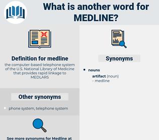 medline, synonym medline, another word for medline, words like medline, thesaurus medline
