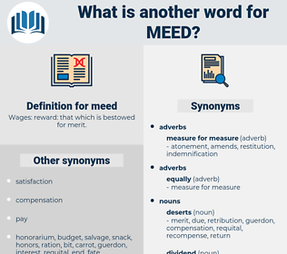 meed, synonym meed, another word for meed, words like meed, thesaurus meed