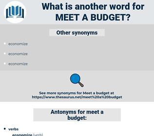 meet a budget, synonym meet a budget, another word for meet a budget, words like meet a budget, thesaurus meet a budget