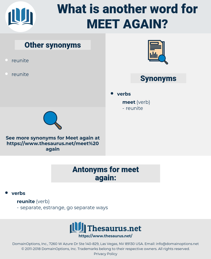meet again, synonym meet again, another word for meet again, words like meet again, thesaurus meet again