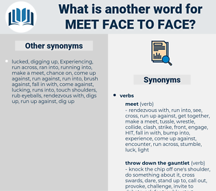 meet face to face, synonym meet face to face, another word for meet face to face, words like meet face to face, thesaurus meet face to face