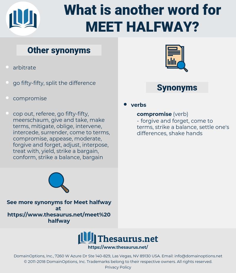 meet halfway, synonym meet halfway, another word for meet halfway, words like meet halfway, thesaurus meet halfway