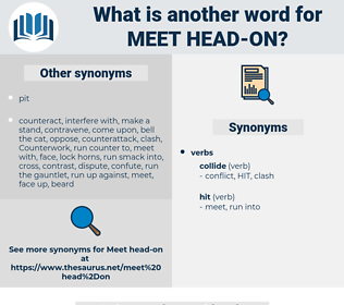 meet head-on, synonym meet head-on, another word for meet head-on, words like meet head-on, thesaurus meet head-on