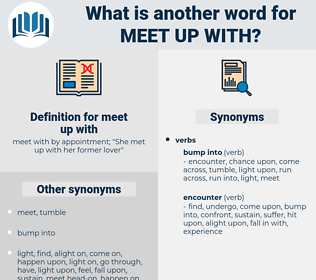meet up with, synonym meet up with, another word for meet up with, words like meet up with, thesaurus meet up with