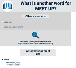 meet up, synonym meet up, another word for meet up, words like meet up, thesaurus meet up