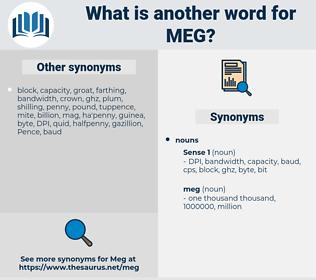 meg, synonym meg, another word for meg, words like meg, thesaurus meg