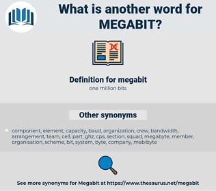 megabit, synonym megabit, another word for megabit, words like megabit, thesaurus megabit