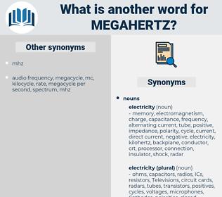 megahertz, synonym megahertz, another word for megahertz, words like megahertz, thesaurus megahertz