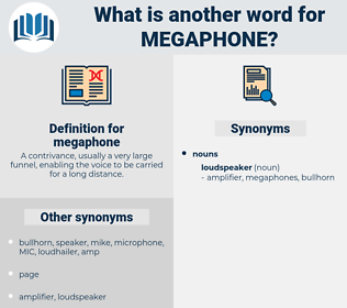 megaphone, synonym megaphone, another word for megaphone, words like megaphone, thesaurus megaphone