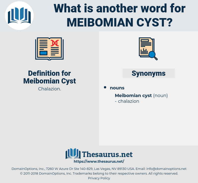 Meibomian Cyst, synonym Meibomian Cyst, another word for Meibomian Cyst, words like Meibomian Cyst, thesaurus Meibomian Cyst