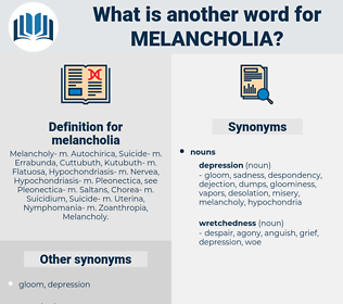 melancholia, synonym melancholia, another word for melancholia, words like melancholia, thesaurus melancholia