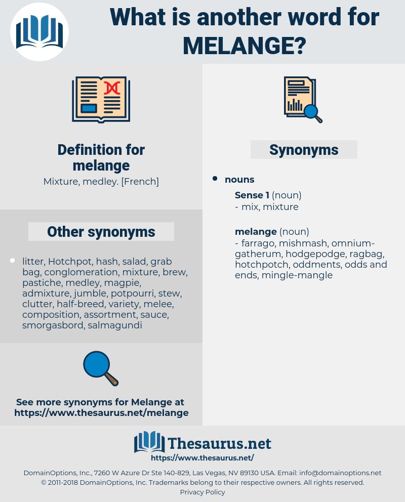 melange, synonym melange, another word for melange, words like melange, thesaurus melange