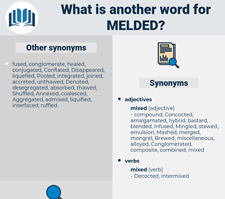 Melded, synonym Melded, another word for Melded, words like Melded, thesaurus Melded