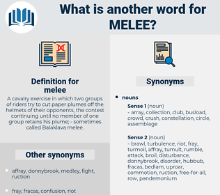 melee, synonym melee, another word for melee, words like melee, thesaurus melee
