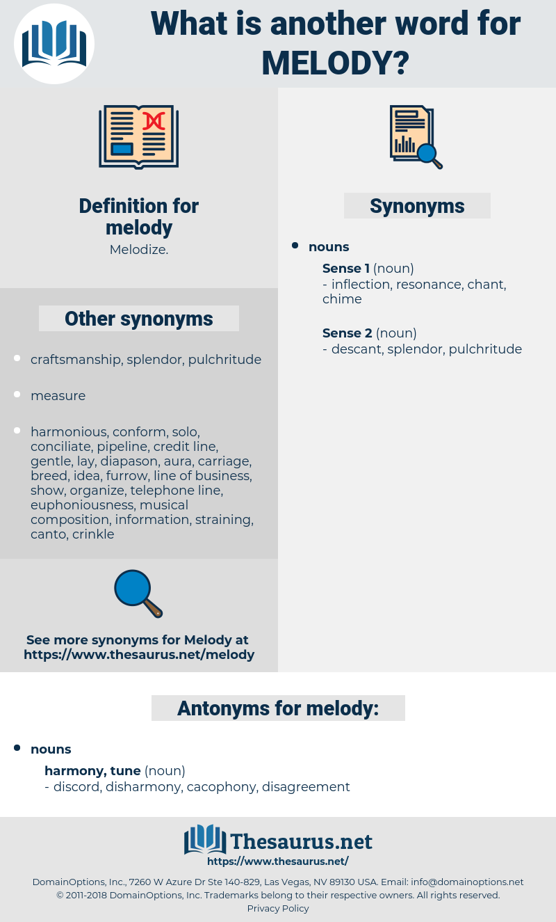 Synonyms for MELODY, Antonyms for MELODY - Thesaurus net