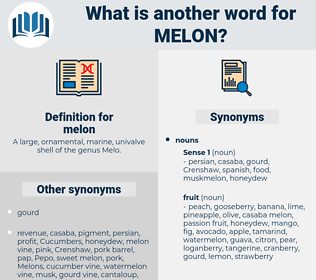 melon, synonym melon, another word for melon, words like melon, thesaurus melon