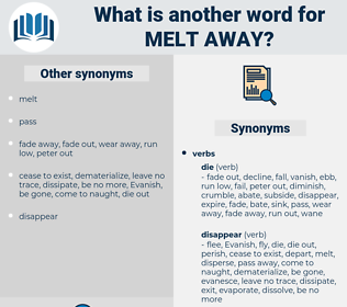 melt away, synonym melt away, another word for melt away, words like melt away, thesaurus melt away