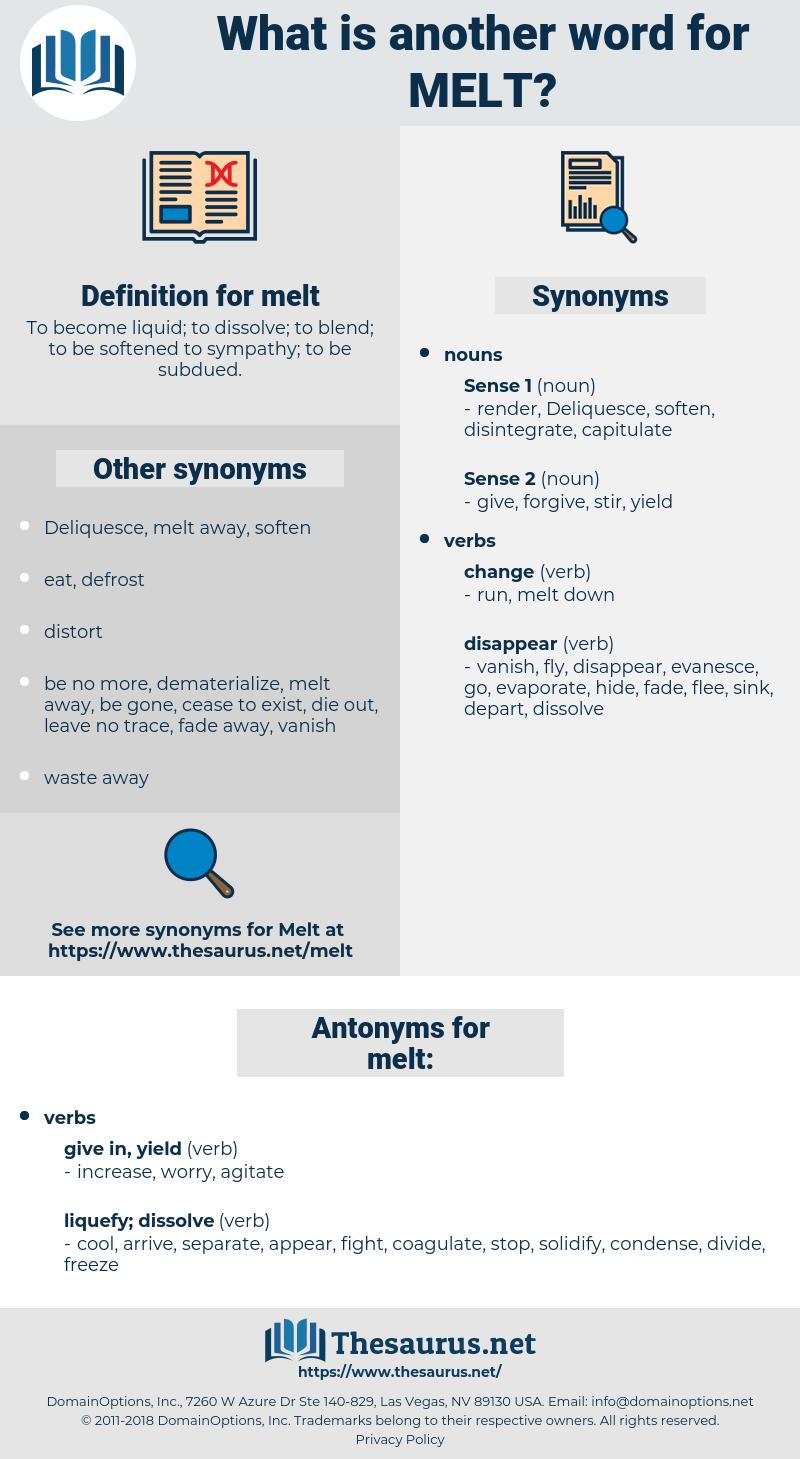 melt, synonym melt, another word for melt, words like melt, thesaurus melt