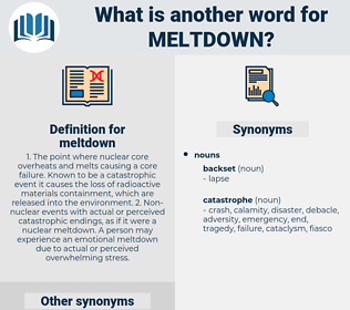 meltdown, synonym meltdown, another word for meltdown, words like meltdown, thesaurus meltdown