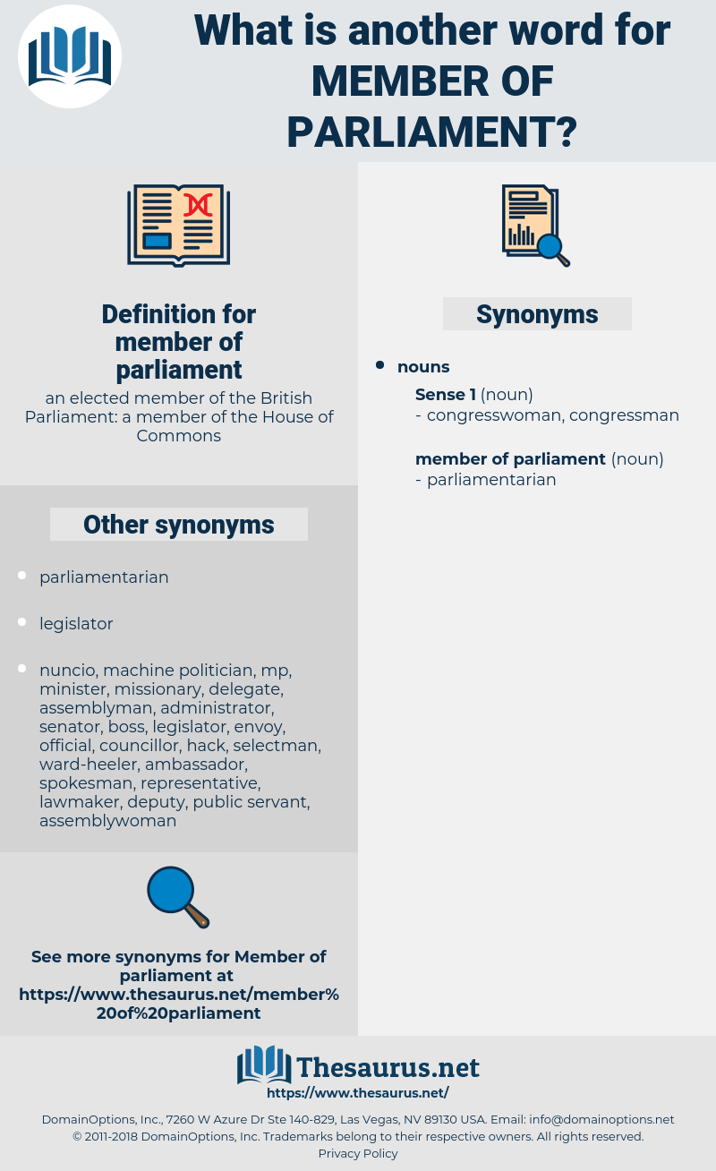 member of parliament, synonym member of parliament, another word for member of parliament, words like member of parliament, thesaurus member of parliament