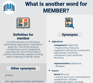 member, synonym member, another word for member, words like member, thesaurus member