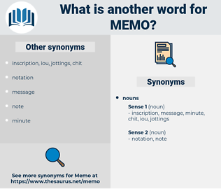 memo, synonym memo, another word for memo, words like memo, thesaurus memo