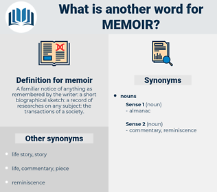 memoir, synonym memoir, another word for memoir, words like memoir, thesaurus memoir