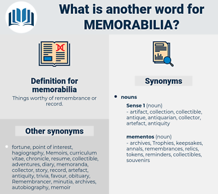 memorabilia, synonym memorabilia, another word for memorabilia, words like memorabilia, thesaurus memorabilia