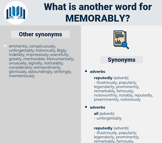 memorably, synonym memorably, another word for memorably, words like memorably, thesaurus memorably