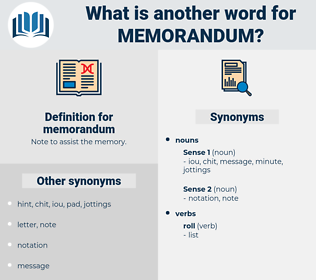 memorandum, synonym memorandum, another word for memorandum, words like memorandum, thesaurus memorandum