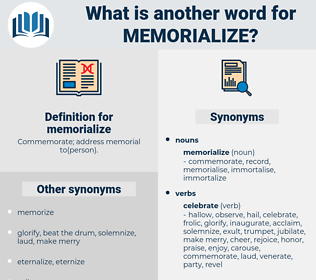 memorialize, synonym memorialize, another word for memorialize, words like memorialize, thesaurus memorialize