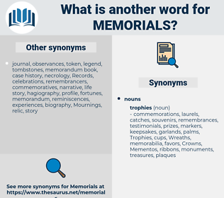 memorials, synonym memorials, another word for memorials, words like memorials, thesaurus memorials